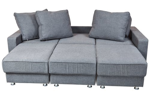 Brown White L Shape Sleeper Sofas, L Shaped Sleeper Sofa