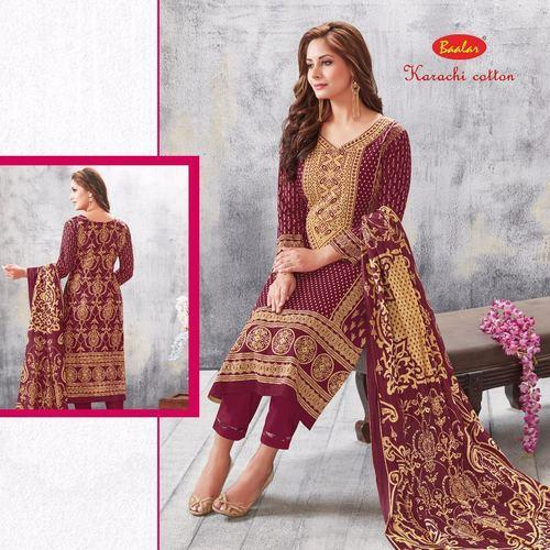 7c0d828d25 Baalar Karachi Cotton Lawn Pakistani Salwar Suits at Rs 475 /piece ...