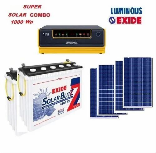 Luminous Off Grid Solar Home Ups Package 1kw Model Name Number Nxg 1800 24v 6sbz150 Id 13916052648