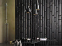 Black Branded Leather And Faux Leather Furnishings