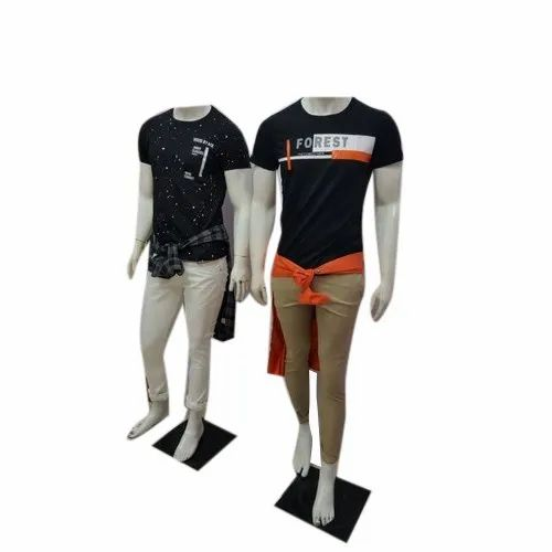 Cotton Round Mens Printed T-Shirt, Packaging Type: Packet