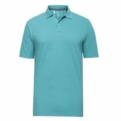 Indo Shine Polo Neck Green Mens T-Shirt