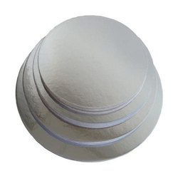 7 Inch Round Cake Base With Silver Foil