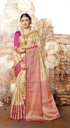 959d2b5a93b6cd Banarasi Silk Classic Saree With Blouse Piece, Rs 850 /piece | ID ...