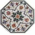 Marble Coffee Table Top With Mother Of Pearl Inlay