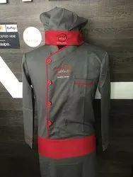 Cotton Unisex Chef Coat For Hotel Cafy Restrorent