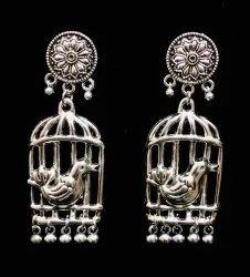 Oxidized Artificial Earrings Set