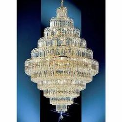 Round Hanging Crystal Chandeliers