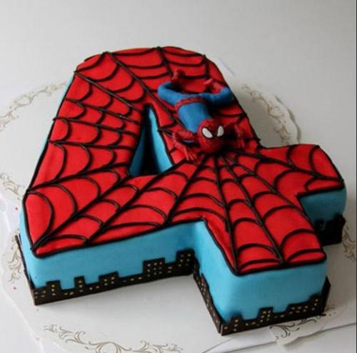 Spiderman Birthday Cake 3kg Chocolate