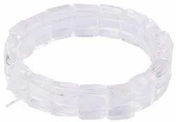 Women Men Skin Friendly Quartz Sphatik Crystal Healing Bracelet