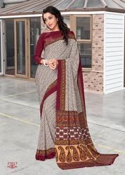 Fancy Uniform Silk Saree