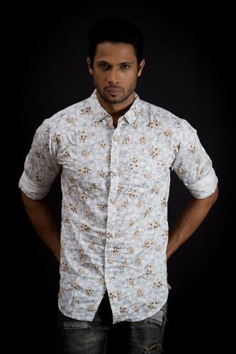 a807dd83 Satin Slim Fit Printed Shirts For Men, Rs 265 /piece, Arham Nakoda ...