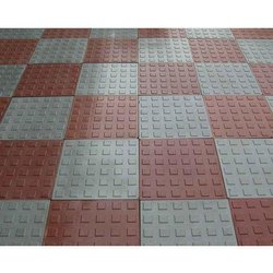 Red And Grey Paving Stone Tile