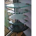 13 Inch Bathroom Corner Glass Shelf