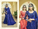 Party Navy Blue Designer Fancy Wear Sarees