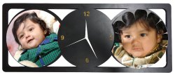 Black Rectangular Wooden Multi Photo Sublimation Frame, For Decoration