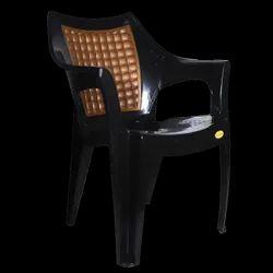 Diya Hand Rest Plastic Chair, Warranty: 1 Year