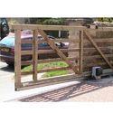 Wooden Cantilever Sliding Gate, For Commercial