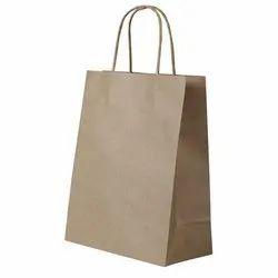 Brown Plain Kraft Paper Bag, For Shopping, Capacity: 3.5 Kg