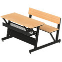 Pragati Systems Wooden School Desk With Tubular Steel Structure