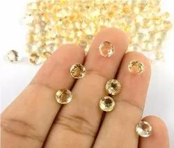 Natural Citrine Round Normal Cut Gemstone