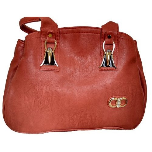 792580502944 Brown Rexin Ladies Hand Bag