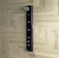 OTIS Black Shower Panel