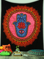 Malwa Textile New Multi Color Wall Hanging Tapestry Indian Traditional Throw Beach Wall Art