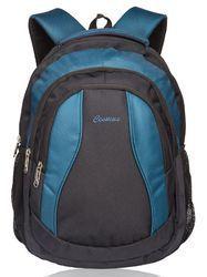 Black & Indigo Blue Storm Laptop Backpack