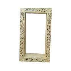 Wooden Rectangular Carving Photo Frame