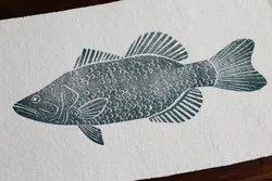 Fish Cotton Bathmat