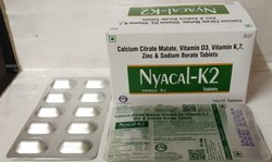 Calcium Citrate Maleate 1250 MG , Vitamin D3 10 MCG , Vitmain K2 7 50 MCG , Zinc Sulphate Monohydrat