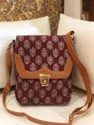 SHEENAZ Multicolor TRILOCK SLING BAG, Size: 9
