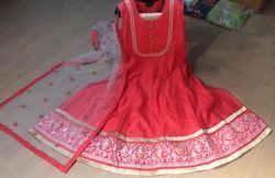 Chanderi and Silk Embroidered Designer Anarkali Suits