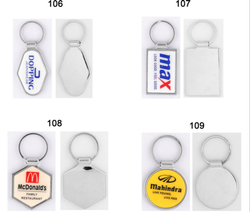 Promotional Plastic Chrome Plated Keychain, Packaging Type: Packet