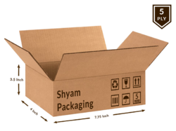 Corrugated  Box - 5 Ply (7.75L x 4B x 3.5H Inch)