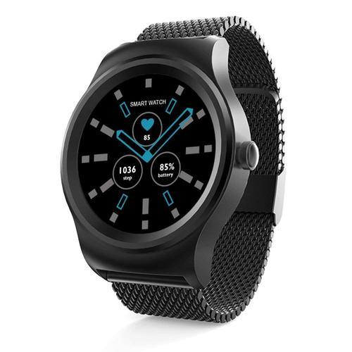 7e1914ed3995bc Black Stainless Steel OPTA-SB-070 Bluetooth Fitness Smartwatch For Android  And IOS Smartphones
