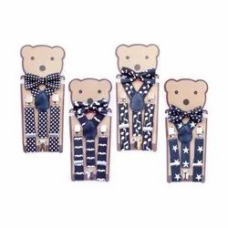 Kidofash Printed Colour Suspender and Bowtie Set