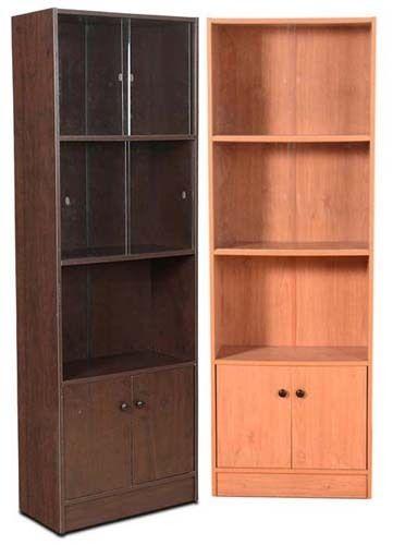 size 40 2e9f4 cde34 Glass Door Wooden Book Shelf