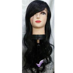 Natural Black Ladies Synthetic Hair Wig