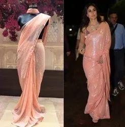Wedding designer saree, With Blouse Piece, 5.5 m (separate blouse piece)