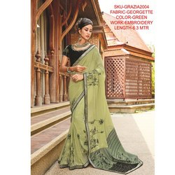 Rachna Georgette Embroidery Work Grazia Saree For Women 4
