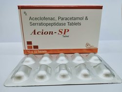 Aceclofenac,Paracetamol and Serratiopeptidase Tablets