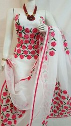 Party Wear Unstitched Georgette salwar suits, Size: 44-45