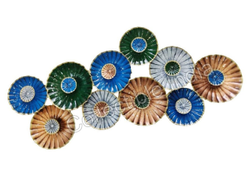 Multicolor Collectible India 3d Abstract Flower Metal Wall Hanging Mounted Art Rs 4699 Piece Id 21953633862