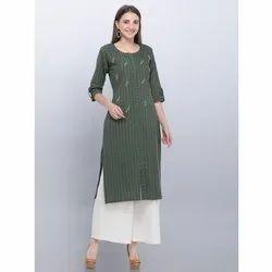 Casual Khadi Cotton Palazzo Suit