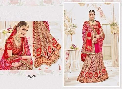 55c3c9b669 Bandhani Bandhej, Embroidered Heavy Bridal Bandhej Designer Saree ...
