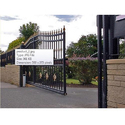 Black Mild Steel Cantilever Sliding Gate, For Commercial