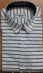 Cotton Collar Neck Mens Striped Shirts