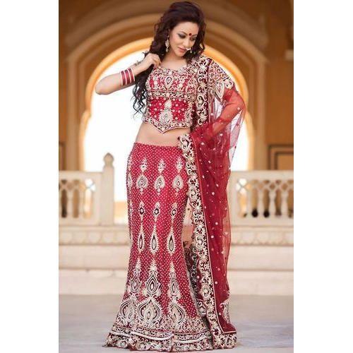 44c4562ea9 Semi-Stitched Available In Many Colors Wedding Designer Lehenga, Rs ...